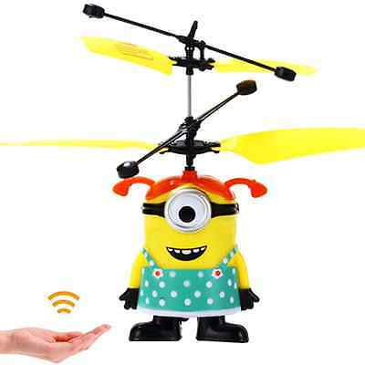 Flying Minion Sensor Control Helicopter Toy Cartoon Christmas Gift Aircraft