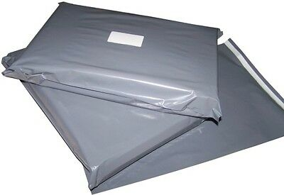 "1000 GREY 10 x 14"" PLASTIC POLYTHENE MAILING BAGS - £39.99 - CHEAPEST ON EBAY!"