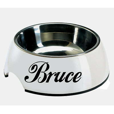 2X CUSTOM VINYL DECAL for Dog bowl, kennel, food tray. BOWL NOT INCLUDED
