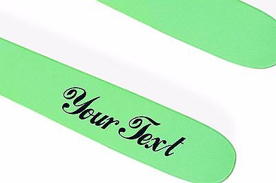 2X CUSTOM VINYL DECAL sticker ski snowboard graphic CHOOSE COLOUR & FONT