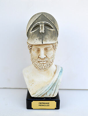 Ancient Greek Pericles statesman, orator and general of Athens sculpture bust