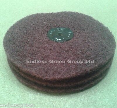 Satin Finish Polishing Wheel - Non Woven Abrasive Polishing Mop - 3 section