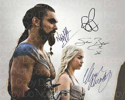 Game of Thrones signed x4 cast Emilia 8X10 photo picture poster autograph RP 2