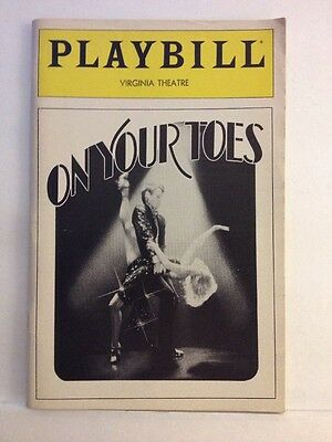 Playbill On Your Toes at Virginia Theatre April 1983! Very Clean!