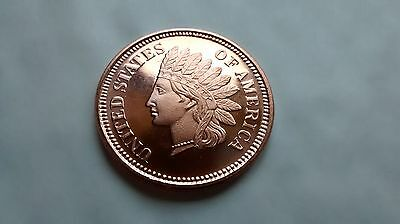 2 x 1/2 oz Copper Coin - Indian Head - Golden State Mint