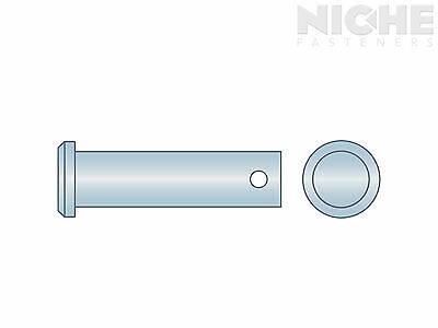 ITW Clevis Pin 5/8 x 2-1/2 Low Carbon Steel Zinc Clear (25 Pieces)