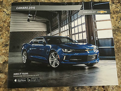 2016 Chevy Camaro 20-page Original Sales Brochure