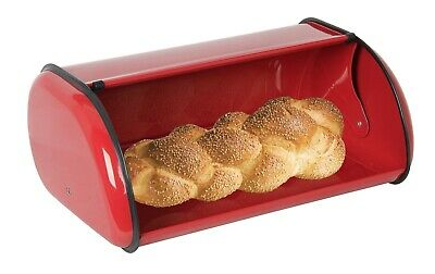 Home Basics Bread Box, Red Stainless Steel - FREE SHIPPING - BB40202