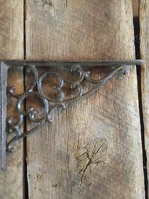 1 Cast Iron Antique Style Leaves & Vines Brackets Garden Braces Shelf Bracket