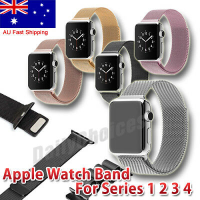 Milanese Magnetic Loop Stainless Steel Watch Bands Strap For Apple Watch iWatch
