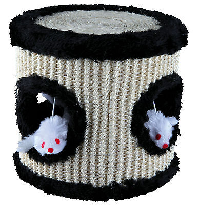 Scratching Sisal Play Drum with 4 Plush Mouse Toys Cat Kitten Scratch Toy 17cm