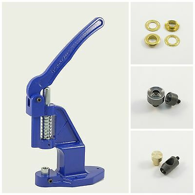 Set Eyelet press + 500 gold 10mm rust-free + 2 Tools for Hand Rivets