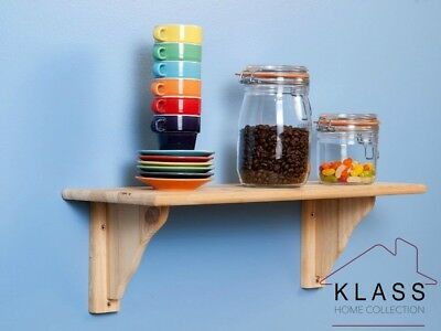 Natural Wood Wooden Pine Shelf Kit  585 x 190 x 16mm - Core Solid Pine