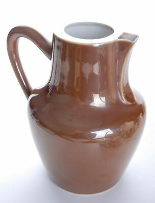 French Brown Glazed Jug With a Square Spout