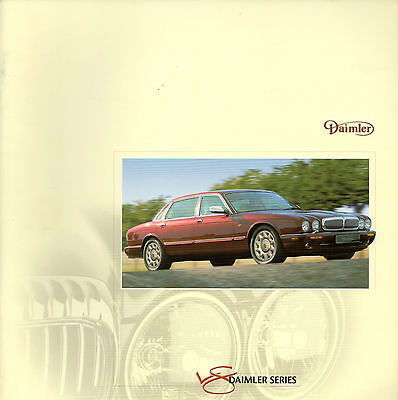 Daimler 4.0 V8 & Super V8 X308 1998-99 UK Market Sales Brochure Jaguar XJ
