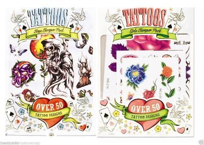 Temporary Tattoo Bumper Pack Tattoos Girls Or Boys Over 50 Various Designs