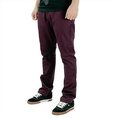 Volcom Skate Activist Chino Pants Maroon All Sizes New BNWT Free Delivery