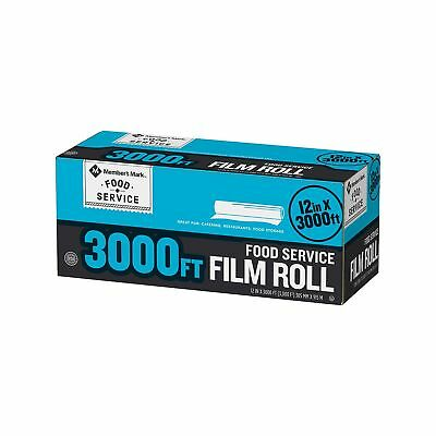Member's Mark Food Service Plastic Saran Storage Film Wrap - 12 X 3000 feet