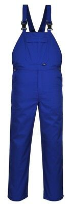 Portwest Burnley Bib Brace PPE Industrial Overalls Safety Work Trousers - C875