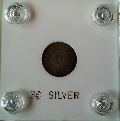 1852 Silver Three Cent Piece/3 Cent Silver/3c  Trime           #3208