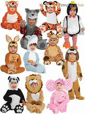 Baby Toddler Animal Costume Boy Girl Zoo Jungle Fancy Dress Infant Jumpsuit Kids