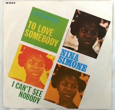 "# N. Simone TO LOVE SOMEBODY Italy 1967 (EX+) VERY RARE  7""-M00020"