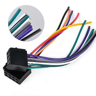 GJ CAR AUDIO Stereo Wiring Harness Adapter Plug For ... Universal Car Stereo Wiring Harness on car stereo cover, car stereo with ipod integration, car stereo sleeve, car stereo alternators, car wiring supplies, leather dog harness, 95 sc400 stereo harness, car fuse, car speaker,