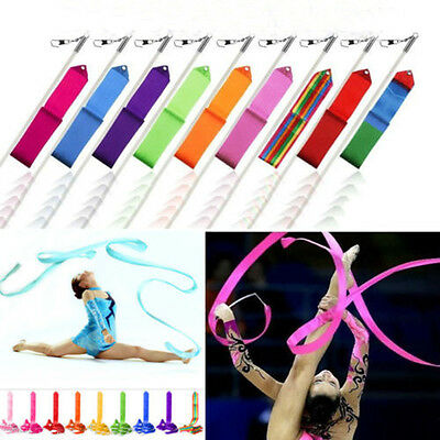 4M Gym Dance Ribbon Gymnastic Twirling Rod Exercise Rhythmic New Art Stick