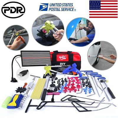 PDR Auto Body Tools Push Rods Dent Repair Whale Tail Set Hail Ding Removal W/Bag
