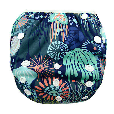 1 Jellyfish Sea Swim Diaper Nappy Pants Adjuatable Reusable Infant Baby Toddler