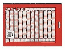 Large A1 2017 2018 Academic Mid Year Wall Planner Calendar - Coloured Triangle's
