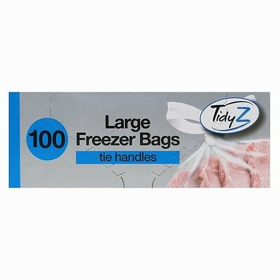 100 X Large Strong Food Freezer Bags With Tie Handles 100 Strong Bags Dw
