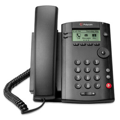 Polycom 2200-40250-025 1-Line Corded Voice Over IP Phone (PoE Support)