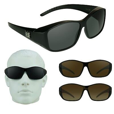 166ad12ee06 Barricade RX Fit Over Large Sunglasses POLARIZED Lens Fishing Driving  Shooting