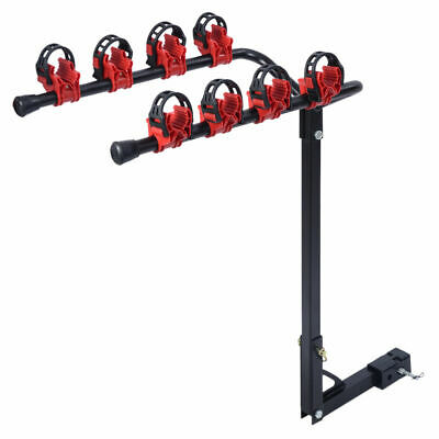 """New 4 Bicycle Bike Rack 1-1/4""""&2"""" Hitch Mount Carrier Car Truck AUTO SUV Swing"""