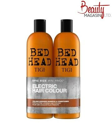 Tigi Bed Head Colour Goddess Shampoo & Conditioner 750ml Tween Duo + Pumps