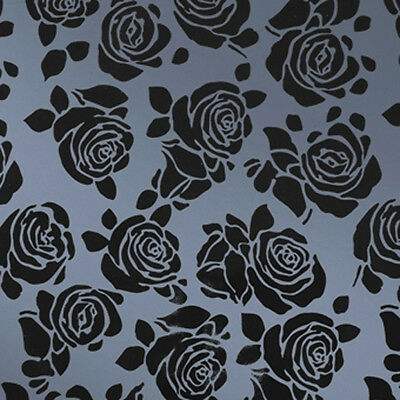 Black with Pearl Roses Wrapping paper,counter roll, gift wrap,500mm x 50m
