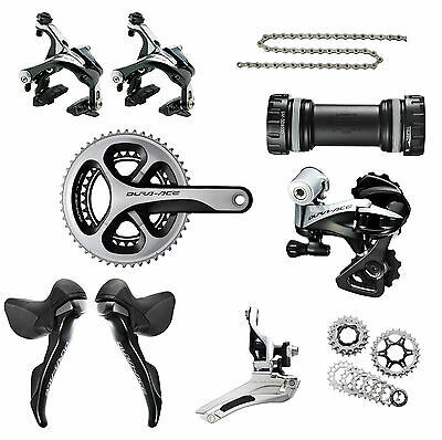 Shimano Dura-ace 9000 Road Bike 2x11 Speed Build Kit Groupset 50/34T 170mm (OE)