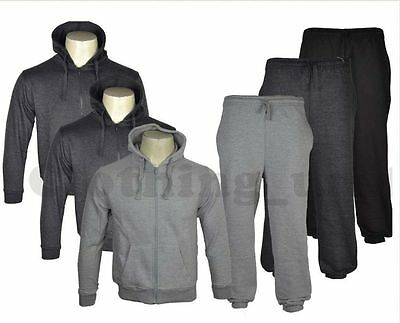 Kids Boys Girls Jogging Suit Bottoms Fleece Zip Hoodie Tracksuit Pants School