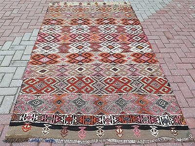 "Anatolia Turkish Antalya Nomads Kilim 58,6"" x 103,9"" Area Rug Kelim Carpet ,Rugs"