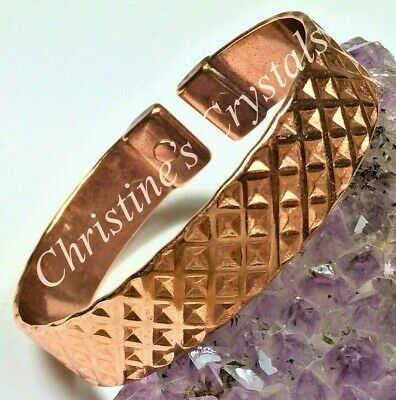 MAGNETIC Solid Copper CROSSOVER Bracelet - Healing Arthritis Pain Relief - M94