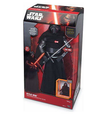 "Kylo Ren Animatronic Interactive Figure Star Wars 17"" Toy - Lights Up And Speaks"