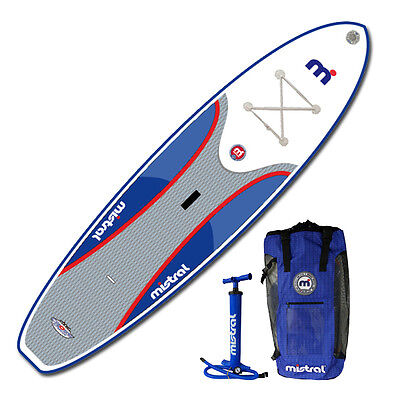 """Sale! Mistral 10'5"""" Adventure All-Around Inflatable SUP Paddle Board w/BackPack"""