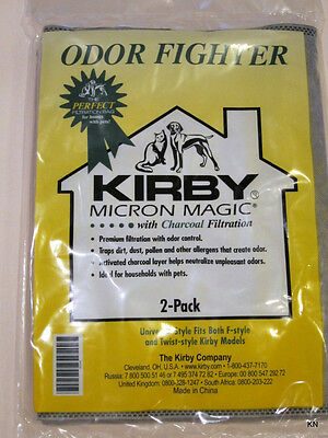 Kirby Universal 2/PK Odor Fighter w/Charcoal Filtration pet owners bags 202816