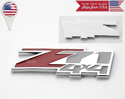 "One Chrome 7/"" x 1.8/"" Z71 4x4 Emblem decals Sticker for Fender Bumper Tailgate"