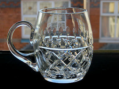 "Galway Crystal Cut Glass ""rathmore"" Pattern Mug/cup"