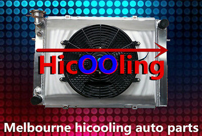 3 CORE Aluminum Radiator + Shroud +Thermo fan for HOLDEN VG VL VN VP VR VS V8