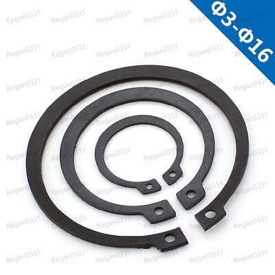 Φ3mm To Φ16m External Rings Black Snap Rings Circlips Retaining rings for shafts