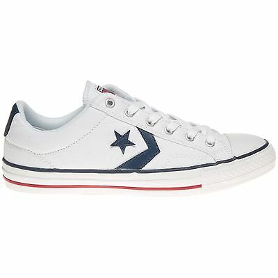 0c6023fc5f44 CONVERSE STAR PLAYER Ox White Athletic Navy Mens Trainers Unisex New ...