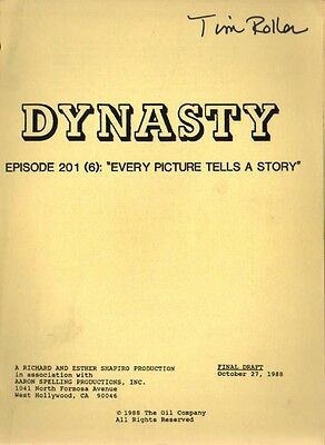JOAN COLLINS - Original DYNASTY Script 'Every Picture Tells A Story' 1988 [C#33]